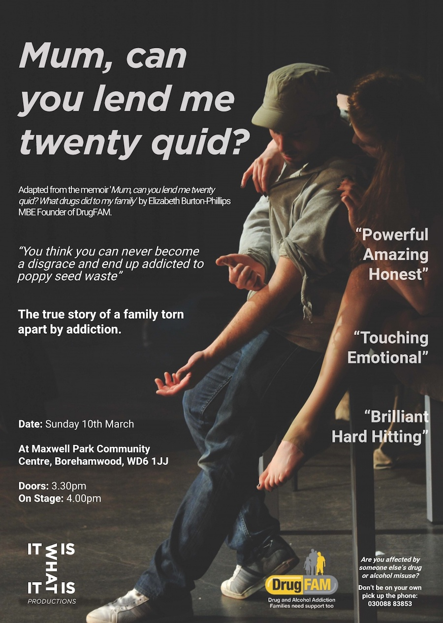 """Mum, can you lend me twenty quid"" – The Play"